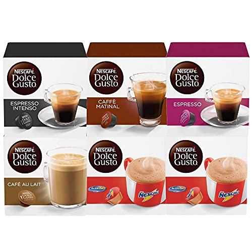 60 Capsulas Dolce Gusto, Capsula Café, Espresso, Nescau, Cappuccino, Chococino