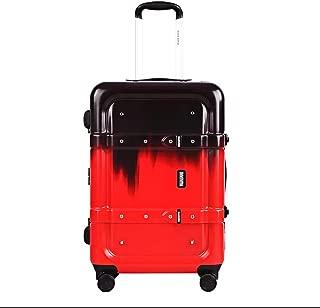 NJC Luggage Box Color Art Luggage Retro Aluminum Suitcase Travel Case