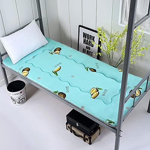 ZUSFUL Colchón de futón colchón de Suelo para niños Tatami Transpirable colchón Enrollable colchoneta portátil para Dormir para Dormitorio de Estudiantes,90×190cm