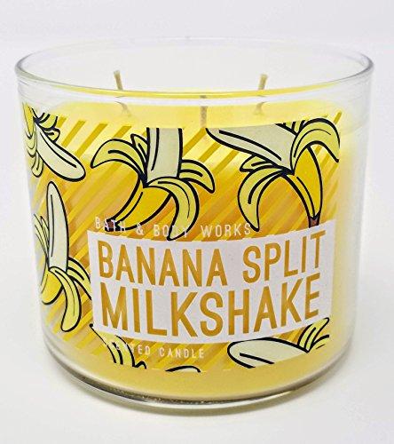 Bath and Body Works Banana Split MilkShake 3 Wick 14.5 oz Candle