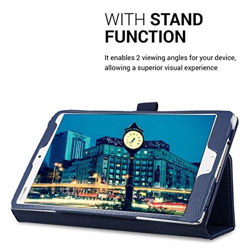 kwmobile Huawei MediaPad M3 8.4 Hülle - Tablet Cover Case Schutzhülle für Huawei MediaPad M3 8.4 - Dunkelblau mit Ständer - 6