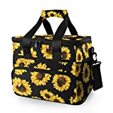 JUMBEAR 15L Leakproof Reusable Insulated Cooler Lunch Bag Office Work Picnic Hiking Beach Lunch Box...