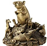 FEEE-ZC Latón Chino 12 años del zodíaco Ratón Ratones Caballo Tigre Cerdo Toro Estatua Set