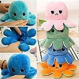 Polvo Reversivel Octopu De Dupla Face Com Flip Octopu / Brinquedo De Pelúcia (Preto e Azul)