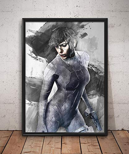 Amazon Com Ghost In The Shell Poster Ghost In The Shell Print Scarlett Johansson Wall Art Home Decor Handmade