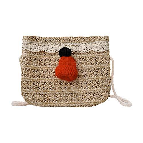 AIni Rucksack Kinder, Mode Kinder Schulter Kuriertasche Geldbörse Tasche für Kinder Kinderrucksäcke Rucksäcke Beige-B