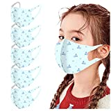YpingLonk 5 Stück 𝙢𝙚𝙙𝙞𝙯𝙞𝙣𝙞𝙨𝙘𝙝 𝙤𝙥 𝙢𝙖𝙨𝙠𝙚𝙣 Kinder Mundschutz Niedlich Cartoons Mehrweg Bandana Atmungsaktive Baumwolle Waschbar Halstuch Outdoor Anti-Staub Mund-Nasenschutz