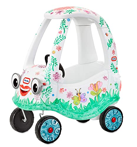 Little Tikes The D.I.Y. Cozy Coupe with Craft Kit That Kids Can Redecorate Again & Again