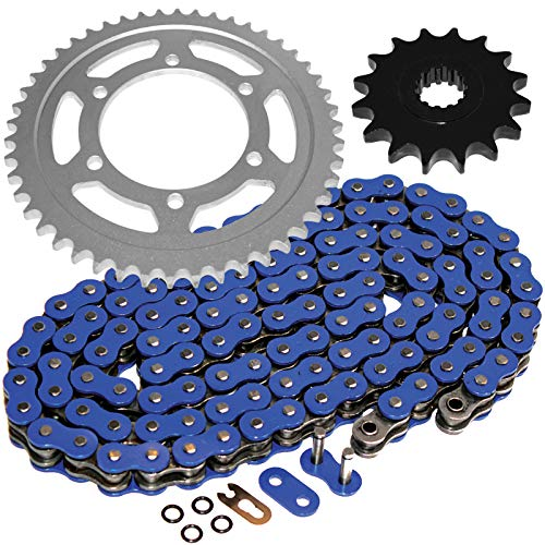 Caltric Compatible with Blue O-Ring Drive Chain and Sprockets Kit Yamaha R6 YZF-R6 2003 2004 2005 Blue