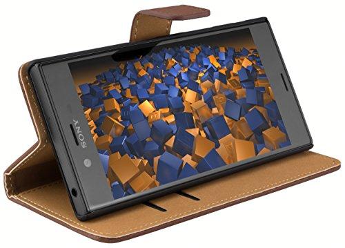 mumbi Tasche Bookstyle Case kompatibel mit Sony Xperia XZ / XZs Hülle Handytasche Case Wallet, braun