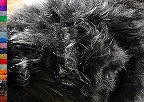 StoffBook MAUSGRAU LANGHAARFELL TEDDYFELL Fell Stoff Fellimitat Stoffe, B709