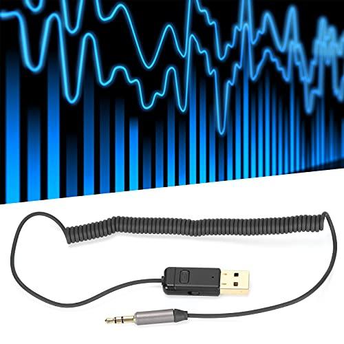 Jopwkuin Adaptador de Bluetooth, artículo excelente de la Estabilidad del Adaptador de Audio USB del Coche para la decodificación de Audio