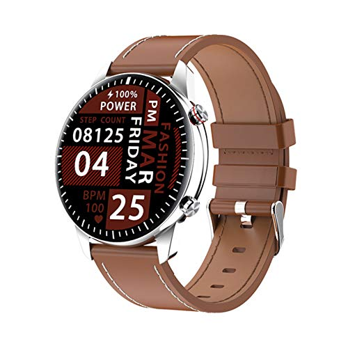 LKM 2021 Nuevo Reloj Inteligente I15 Soporte TWS Bluetooth Auricular Tarifa cardíaca Monitor de presión Arterial Reloj de Aptitud Deportivo para Android iOS,B