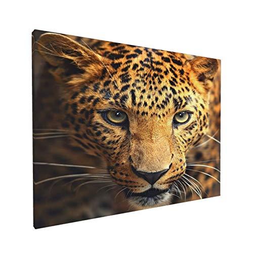 AuHomea Leinwandbild mit Leopardenmuster, 40,6 x 30,5 cm, fertig zum Aufhängen, ungerahmt