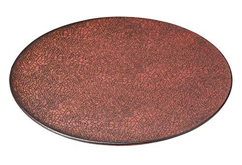 柿赤 26cm平丸皿 [ 26 x 1cm ] [ 大皿 ] | 飲食店 和食 旅館 料亭 ホテル 業務用