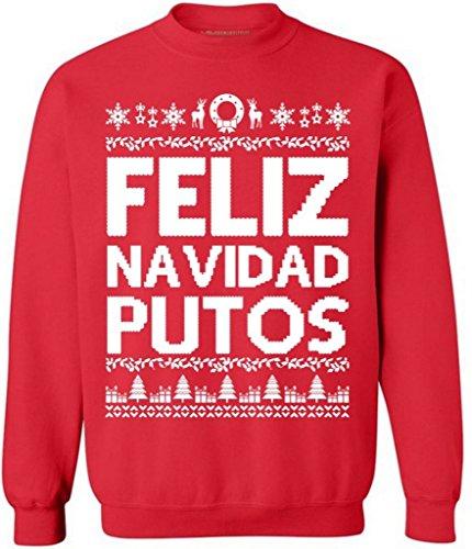 Awkwardstyles 2017 Ugly Christmas Sweaters L Feliz Navidad Putos