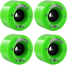 ABEC 11 SuperFlys Lime/Black Skateboard Wheels - 107mm 74a (Set of 4)