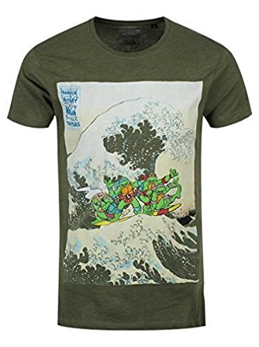 Ninja Turtles - Surfing Men's T-shirt - Maat M (Groen)