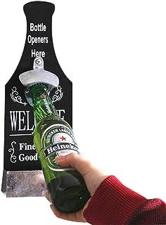 Glueckme Abrebotellas de Cerveza Estilo Vintage Abrebotellas en Forma de Cerveza Montado en la Pared Creativo Personalizado Abridor de Botellas Cap Capcher