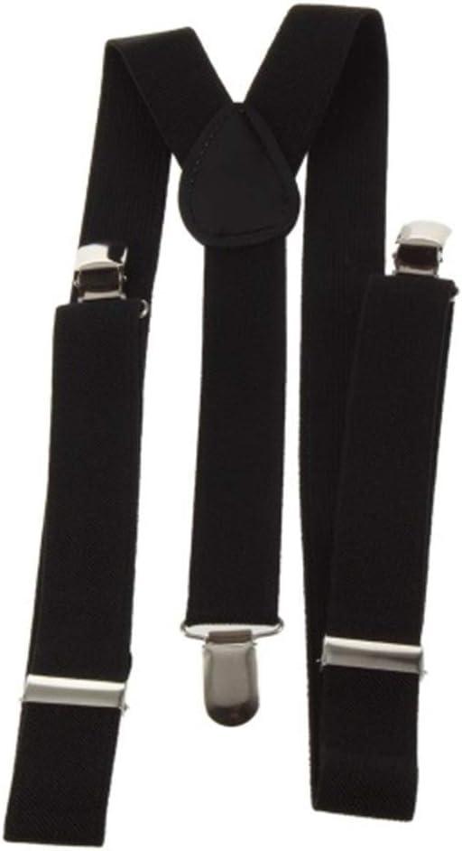 Elastic Y-Shape Adjustable Braces Unisex Mens Womens Pants Braces Straps Belt Clothing Clip-on Suspenders Comfortable (Color : Black)