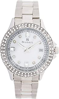 Sunex Women's Silver Dial Stainless Steel Band Watch, S6076SW