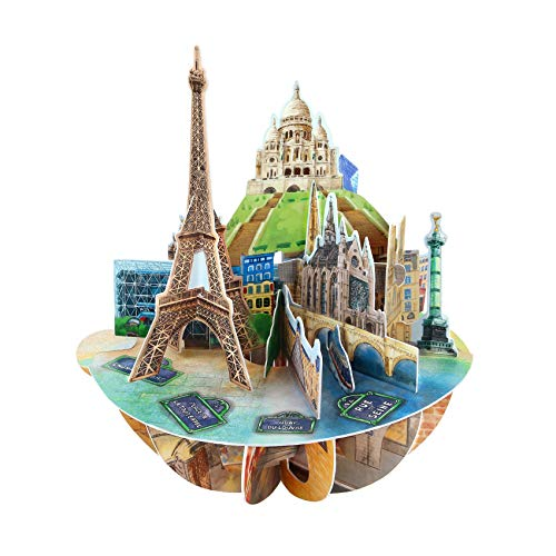 Paris Pirouette Card - Santoro 3D Pop-Up Greeting and Birthday Card For Him and Her