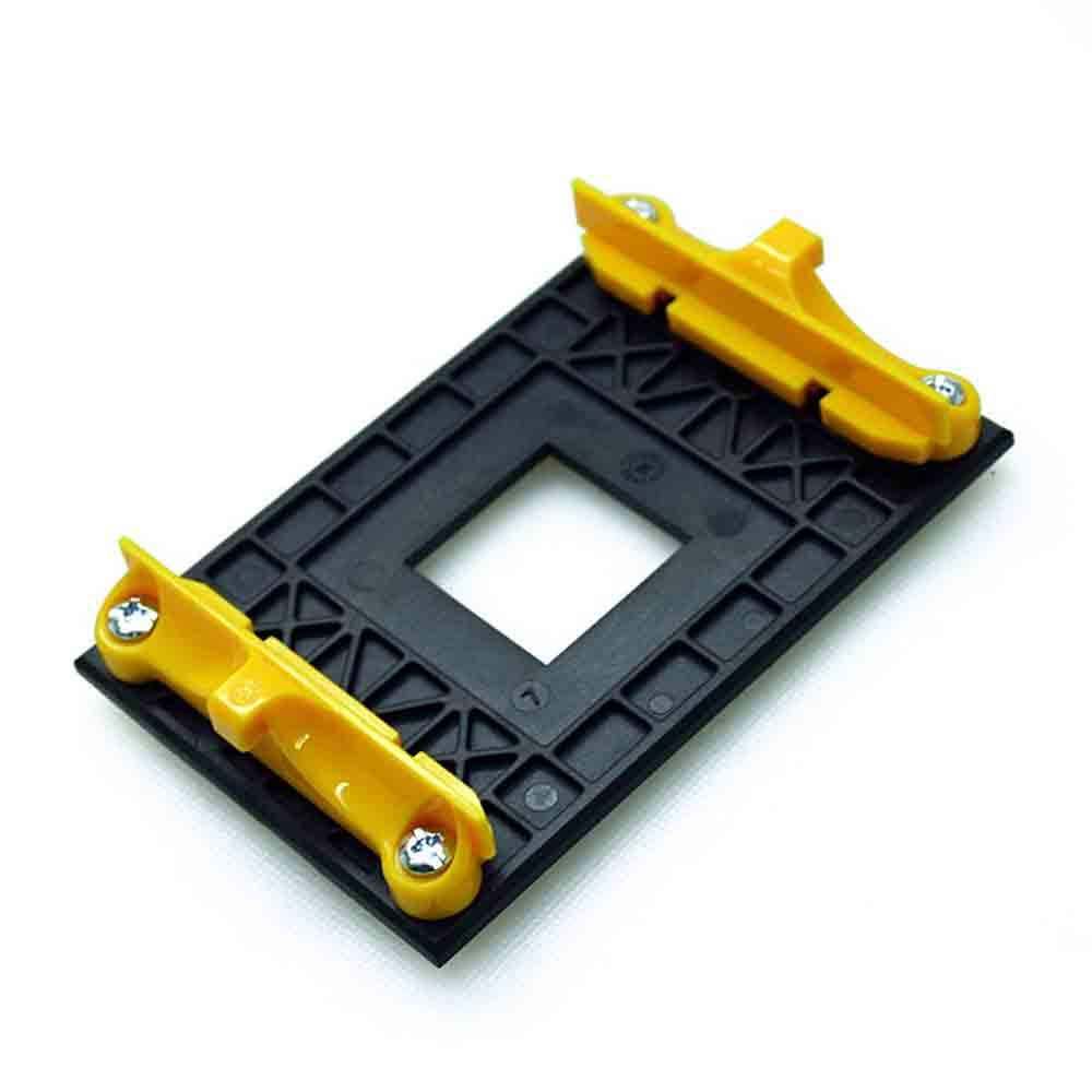 Aimeixin AM4 CPU Heatsink Bracket,Socket Retention Mounting Bracket for Hook-Type Air-Cooled or Partially Water-Cooled Radiators, AMD CPU Fan Bracket Base for AM4 (B350 X370 A320) (Yellow)