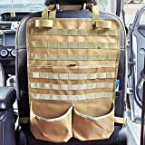 Car Back Seat Organizer Tactical Seat Organizer Molle Seat Back Organizer Car Gun Rack Storage Tactical Vehicle Accessories Universal Organizers Fits Truck SUV Pickup