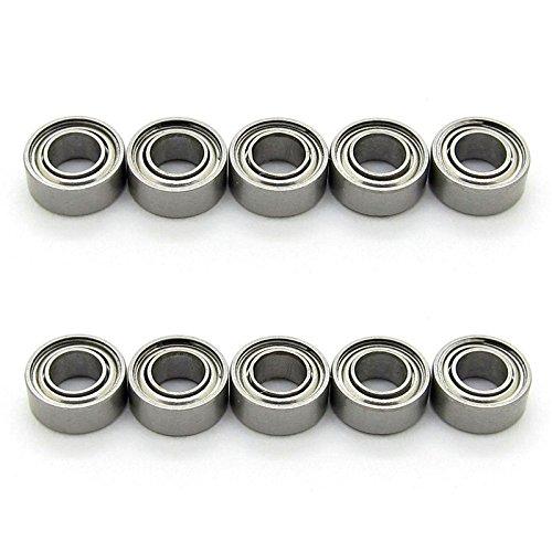 JIUWU 3x6x2.5mm Miniature Steel Bearings MR63ZZ L-630 673ZZ Deep Groove Ball Bearing Pack of 10