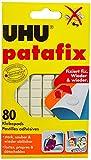 UHU Patafix, 44810 Wieder ablösbare und wieder verwendbare Klebepads, weiß, 80 Stück