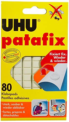 UHU 1648810 - Masilla adhesiva (80 unidades), color blanco