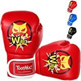 TUXHUI Kids Boxing Gloves for Kids Boys Girls Youth Age 5-12 Years Training Gloves for Punching Bag Kickboxing Muay Thai