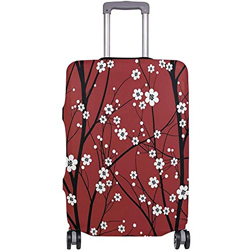 Japonés Cherry Blossom Tree Rojo Equipaje Cubierta Equipaje