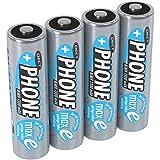 ANSMANN 4 piles rechargeables pour téléphone sans fil AA, 1,2V / 1300mAh / Accumulateurs pour...
