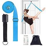 Leg Stretcher, Door Flexibility & Stretching Leg Strap - Great for Ballet Cheer Dance Gymnastics or ANY Sport Leg Stretcher Door Flexibility Trainer Premium stretching equipment (light blue)