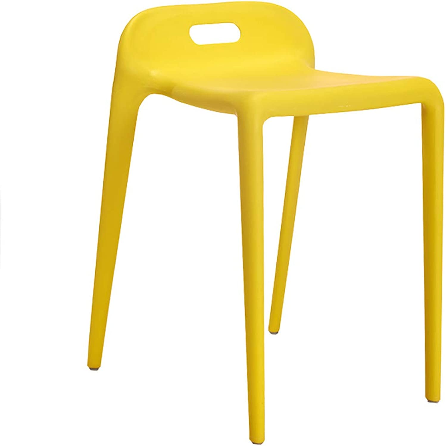 GSHWJS Modern Fashion Plastic Chair Family Restaurant Stool Simple Restaurant Waiting for Rest Chair Multi color Optional 34x44x56cm Put The Stool (color   Yellow)