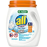 All Mighty Pacs Laundry Detergent with Oxi Stain Removers and Whiteners,56 Count