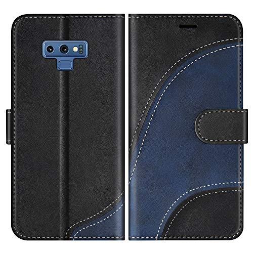 BoxTii Coque pour Galaxy Note 9, Portefeuille Etui en Cuir PU, Magnétique Protection Housse Coque pour Samsung Galaxy Note 9, Noir