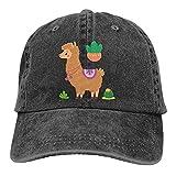 huatongxin Vicuña marrón y Plantas de Cactus en el Desierto Gorra de béisbol Ajustada Deportiva Informal Ajustable Sombrero de papá