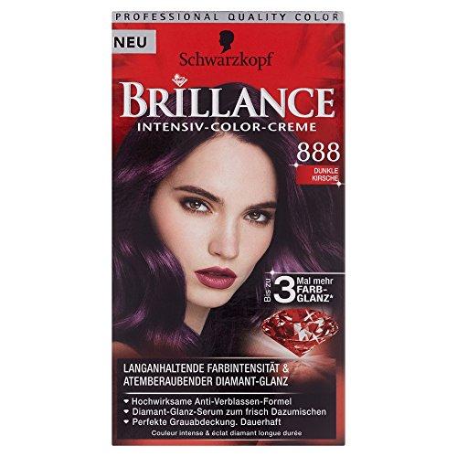 Schwarzkopf Brillance Intensiv-Color-Creme 888 Dunkle Kirsche, 143 ml
