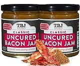 TBJ Gourmet Classic Bacon Jam - Original Recipe Bacon Spread - Uses Real Bacon, No Preservatives - Authentic Bacon Jams - 2 x 9 Ounces