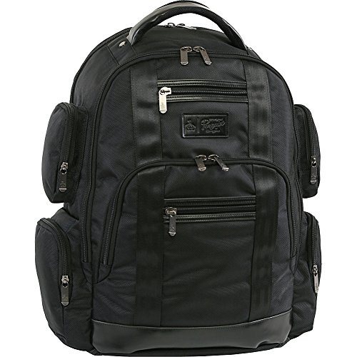 Original Penguin Unisex-Erwachsene Peterson Backpack Fits Most 15-inch Laptop and Notebook Rucksack, schwarz, Einheitsgröße