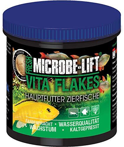 MICROBE-LIFT Vita Flakes - Alleinfutter für Fische in jedem Süßwasser Aquarium 250ml / 30g