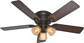 Hunter Fan Company Hunter 53012 Transitional 52``Ceiling Fan from Reinert Collection Dark Finish, inch, Premier Bronze