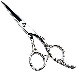 Professional Barber 6 Inch Hairdresser Professional Hairdressing Set, 440C Rose Handle Scissors (Color : Silver)