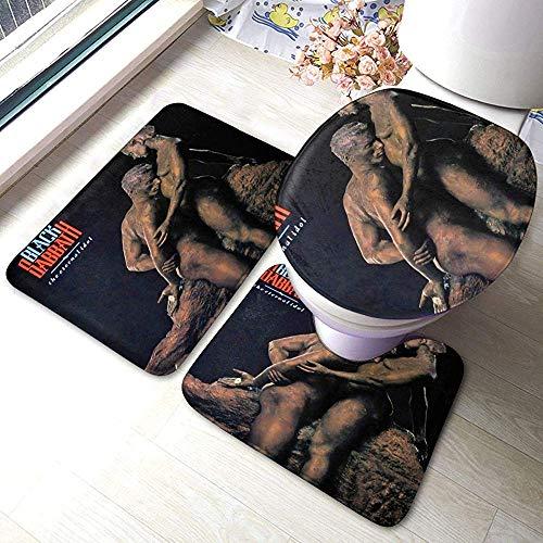 Black Sabbath The Eternal Idol Alfombrillas de baño Set de 3 Piezas Almohadillas Antideslizantes Alfombrilla de baño + Contorno + Tapa de Inodoro