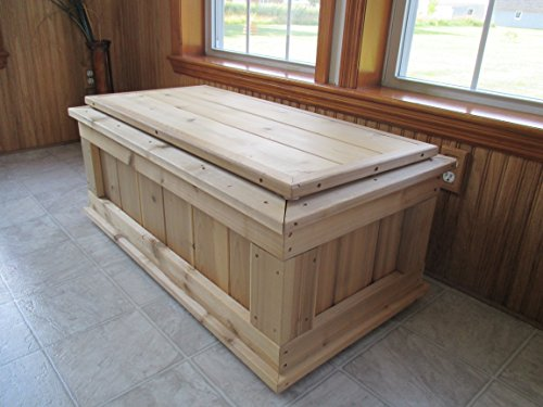 Infinite Cedar Premium Quality 40 in. Cedar 20-Gallon Storage Bench