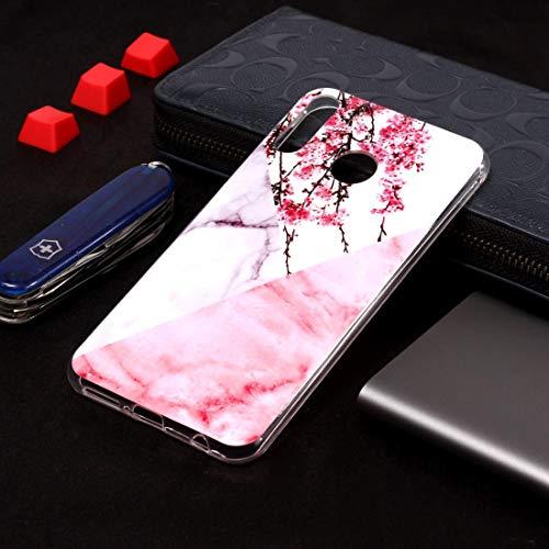 BAIYUNLONG Funda Protectora, Plum Blossom Marble Pattern Funda de TPU Suave for ASUS Zenfone 5Z ZS620KL (Color : Color1)