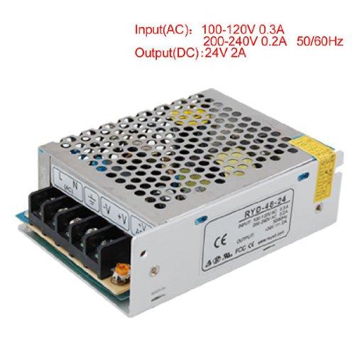 SODIAL Universal 24V 2A Interruptor Regulado de Potential transformer de Fuente de alimentacion