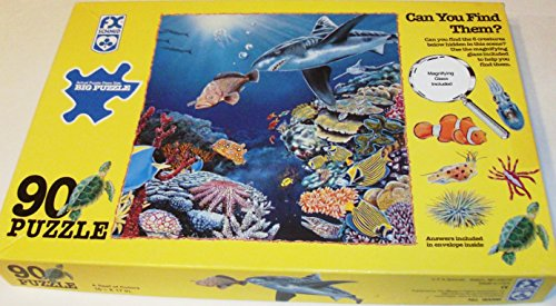 REEF A of Color 90 Piece Shark, Fish & Reef Puzzle
